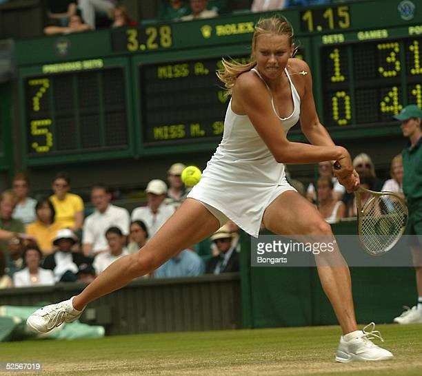 Tennis / Frauen: Wimbledon 2004, London; Maria SHARAPOVA / RUS 29.06.04.