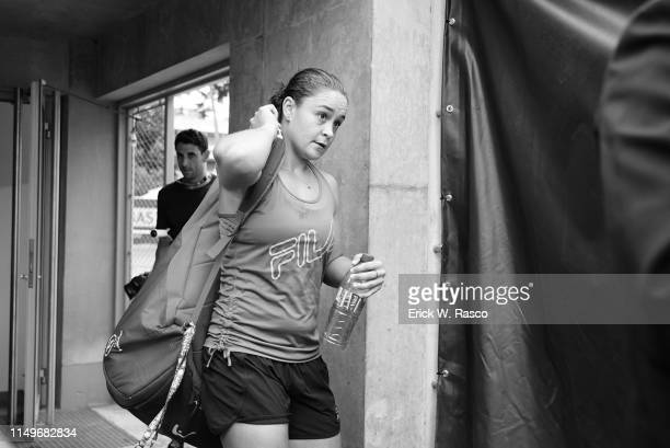French Open Australia Ashleigh Barty entering practice session on Court 4 at Roland Garros Paris France 6/7/2019 CREDIT Erick W Rasco