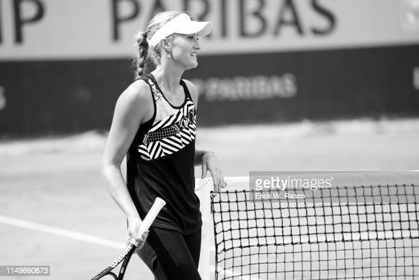 French Open France Kristina Mladenovic during practice session on Court 4 at Stade Roland Garros Paris France 6/8/2019 CREDIT Erick W Rasco