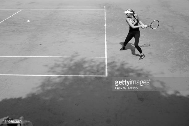French Open France Kristina Mladenovic in action during practice session on Court 4 at Stade Roland Garros Paris France 6/8/2019 CREDIT Erick W Rasco