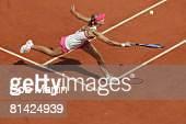 Tennis French Open RUS Maria Sharapova in action vs RUS Anna Chakvetadze at Roland Garros Paris FRA 5/28/2005