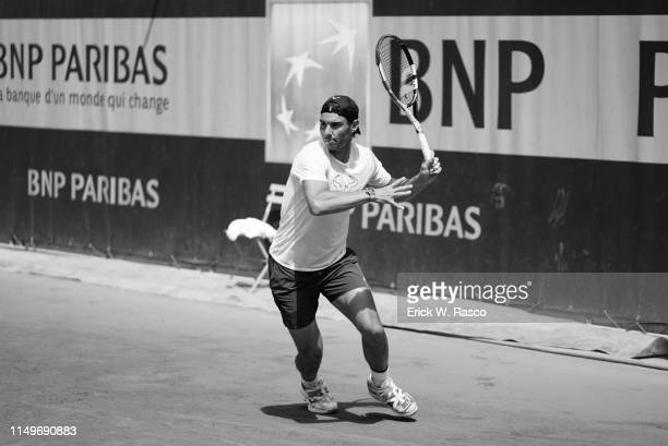 French Open Spain Rafael Nadal in action during practice session on Court 4 at Stade Roland Garros Paris France 6/8/2019 CREDIT Erick W Rasco