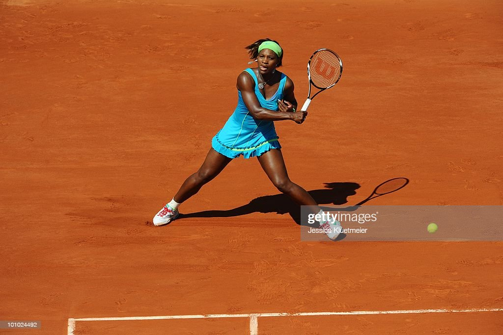 USA Serena Williams in action vs Switzerland Stefanie Voegele during Women's 1st Round at Stade Roland Garros. Paris, France 5/24/2010