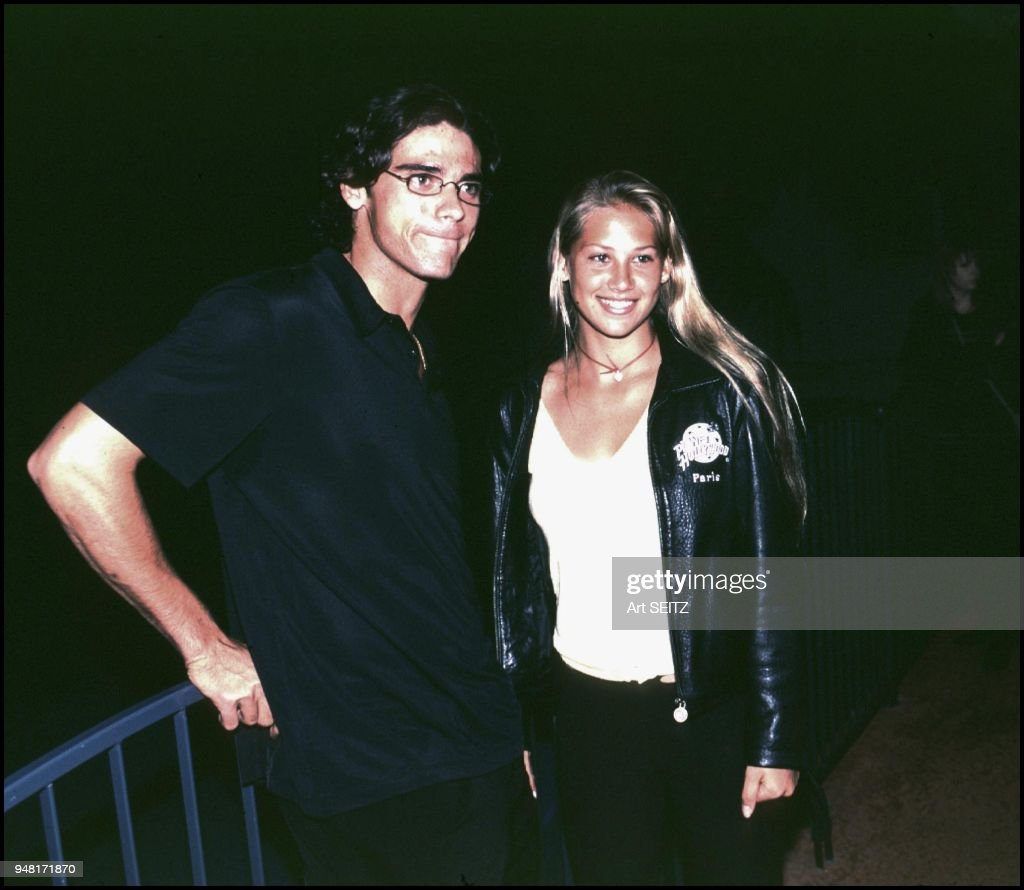 Tennis stars Mark Philippoussis and Anna Kournikova. : News Photo