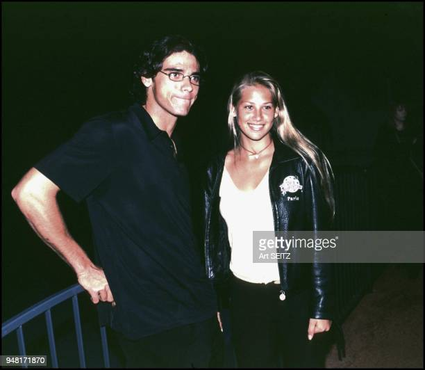 Tennis friends Mark Philippoussis of Australia and Anna Kournikova of Russia