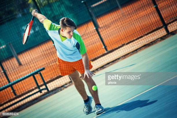 Tennis-Spiel.