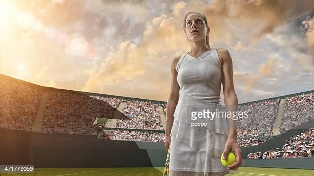 Tennis Girl Hero Ready To Win