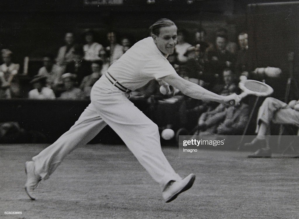 Tennis. Gottfried Von Cramm (Germany) In The Wimbledon Final Against Don Budge (Usa). 2Nd July Of 1937. Photograph. : News Photo