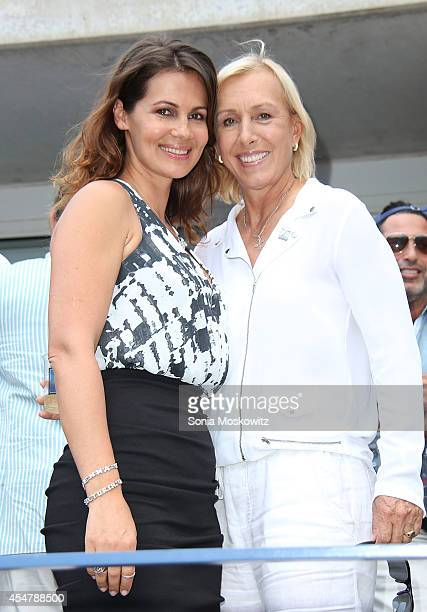 Tennis great Martina Navratilova becomes engaged to Russie Blanche skin care company founder Julia Lemigova at USTA Billie Jean King National Tennis...