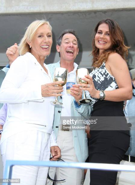 Tennis great Martina Navratilova becomes engaged to skin care company founder Julia Lemigova at USTA Billie Jean King National Tennis Center on...
