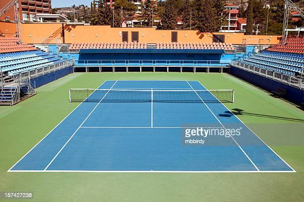 tennis hard court - tennis stock pictures, royalty-free photos & images