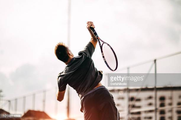 tennis is my favorite sport - serving sport stock pictures, royalty-free photos & images