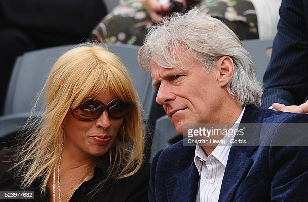 Tennis legend Bjorn Borg and his wife Patricia Ostfeld during the 2008 French Open semifinals