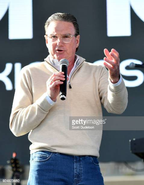 Tennis legend Jimmy Connors appears onstage during the One 805 Kick Ash Bash benefiting First Responders at Bella Vista Ranch Polo Club on February...