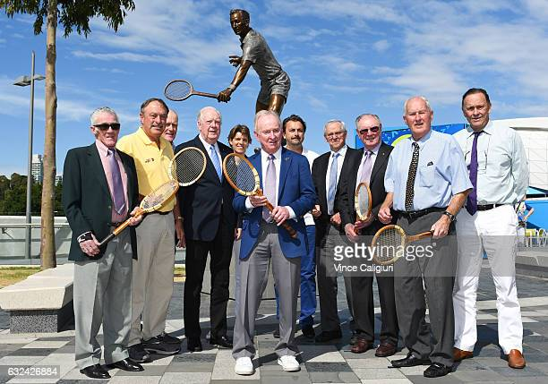 Tennis legends Ken Rosewall John Newcombe John Fitzgerald Fed Stolle Samantha Smith Henri Leconte Roy Emerson Frank Sedgman Neale Fraser and Cliff...
