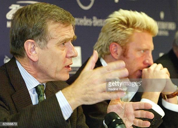 Tennis / Maenner Masters 2004 Finale Hamburg Dr Georg VON WALDENFELS Boris BECKER 160504