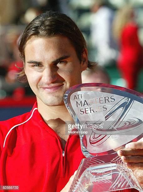 Tennis / Maenner: Masters 2004 Finale, Hamburg; Roger FEDERER / SUI - Guillermo CORIA / ARG; Sieger Roger FEDERER / SUI 16.05.04.