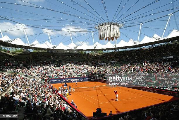 Tennis / Maenner Masters 2004 Finale Hamburg Roger FEDERER / SUI Guillermo CORIA / ARG Uebersicht Rothenbaum 160504