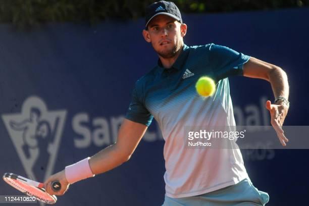 Tennis match between Diego Schwartzmann/Dominic Thiem v Pablo Cuevas/Marc Lopez at the Argentina Open ATP on February 12 2019 in Buenos Aires...