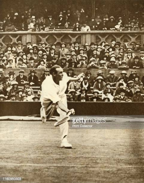 Tennis match on Centre Court at Wimbledon, circa 1930s, . The All England Lawn Tennis and Croquet Club moved to its present site in Church Road,...