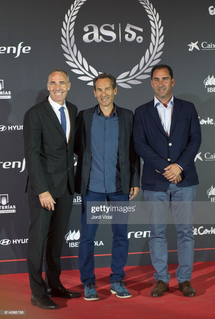 Tennis Medalists attend the photocall during the Homage to Spanish Olympic Medalists at Museu Nacional d'Art de Catalunya on July 13, 2017 in Barcelona, Spain.