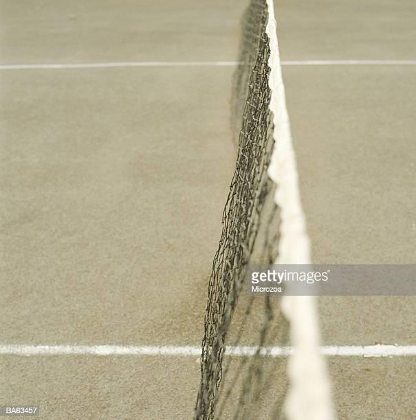 tennis net, close-up - microzoa - fotografias e filmes do acervo