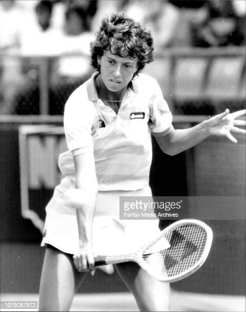 Tennis NSW Open in White City FinalsJo Durie GB vs Kathy Jordan USA November 27 1983