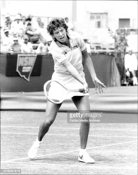 Tennis NSW Open in White City FinalsJo Durie GB vs Kathy Jordan USA November 27 1983