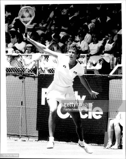 Tennis NSW Open in White City FinalsJo Durie November 21 1984