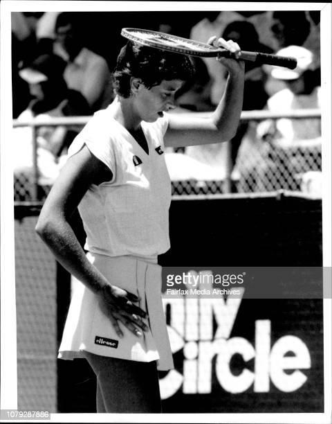 Tennis NSW Open in White City FinalsJo Durie vs Claudia Kohde Klisch November 21 1984