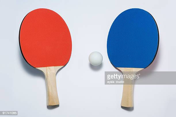 Tennis paddles and ball
