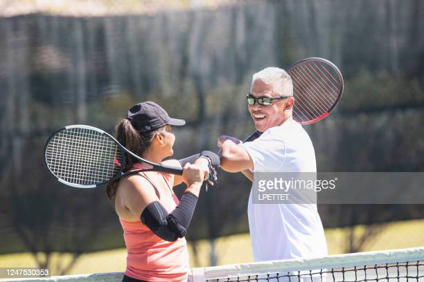 tennis - doubles sports competition format stock pictures, royalty-free photos & images