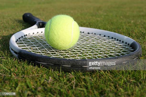 tennis - grass court stock pictures, royalty-free photos & images