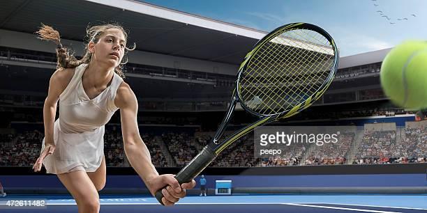 Tennis-Spieler-Aktion