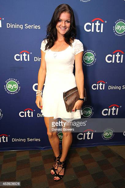 Tennis player Agnieszka Radwanska attends Taste Of Tennis Week Taste Of Tennis Gala at the W New York on August 21 2014 in New York City