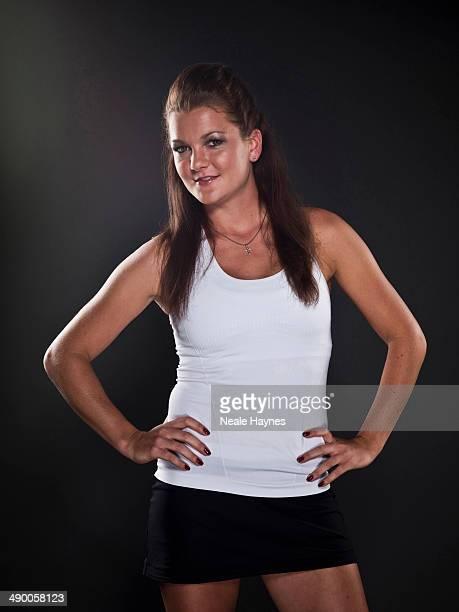 Tennis player Agnieszka Radwanska is photographed in Brighton England