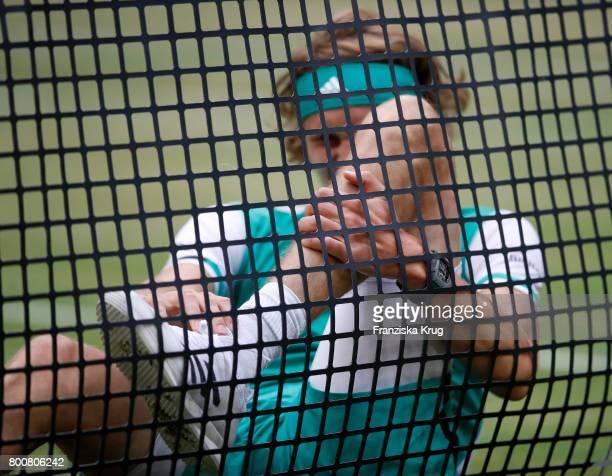 Tennis player Alexander Zverev attends the Gerry Weber Open 2017 at Gerry Weber Stadium on June 25 2017 in Halle Germany