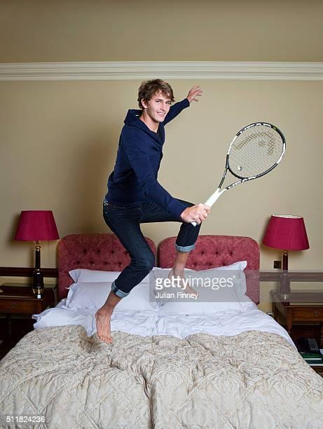 Tennis player Alexander Zverev is photographed at Stoke Park on November 24, 2015 in Stoke Poges, England.