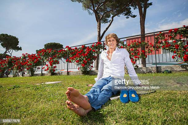 Tennis player Alexander Zverev is photographed for Paris Match on May 7 2016 in Rome Italy