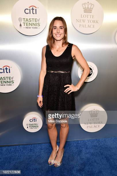 Tennis player Alize Cornet attends the Citi Taste Of Tennis gala on August 23 2018 in New York City