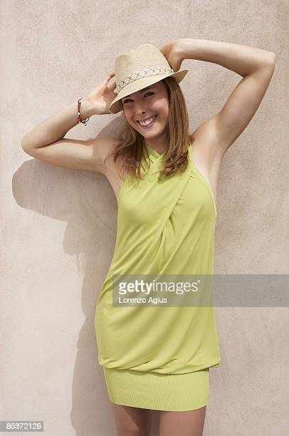 Tennis player Alize Cornet poses for a portrait shoot on February 14 2009 at the Dar Al Masyaf Madinat Jumeirah Resort Dubai MANDATORY CREDITS Dar Al...
