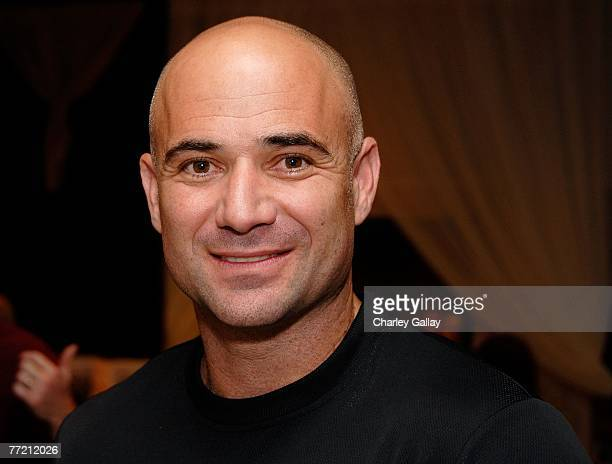 Tennis player and founder of the Andre Agassi Charitable Foundation, Andre Agassi, poses at the Distinctive Assets Gift Lounge held during Andre...