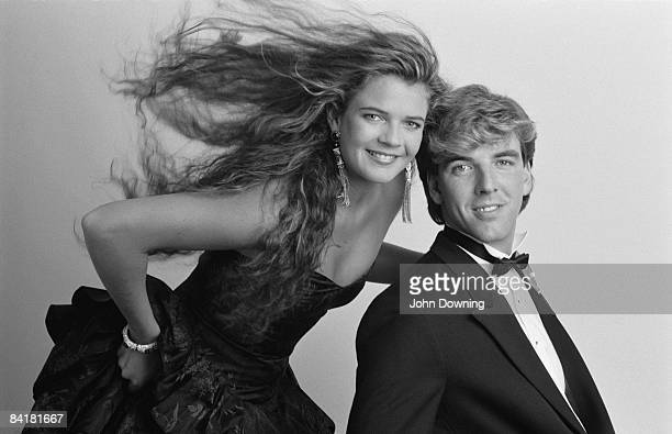 Tennis player and television presenter Annabel Croft with her partner yachtsman Mel Coleman November 1987