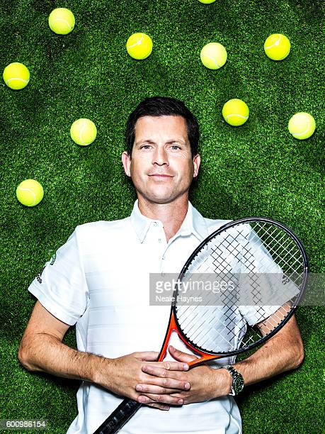 Tennis player and tv presenter Tim Henman is photographed for the Daily Mail on June 9 2016 in London England