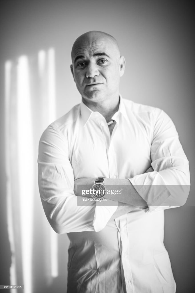 Tennis player Andre Agassi is photographed for GQ Magazine, on November 5, 2013 in Milan, Italy.