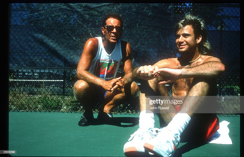 Andre Agassi 1990 : News Photo