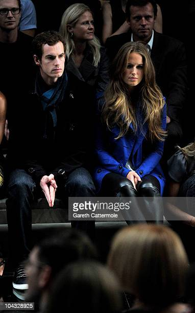 Tennis player Andy Murray and Kim Sears attend the Burberry Prorsum Spring/Summer 2011 fashion show during LFW at Chelsea College of Art and Design...