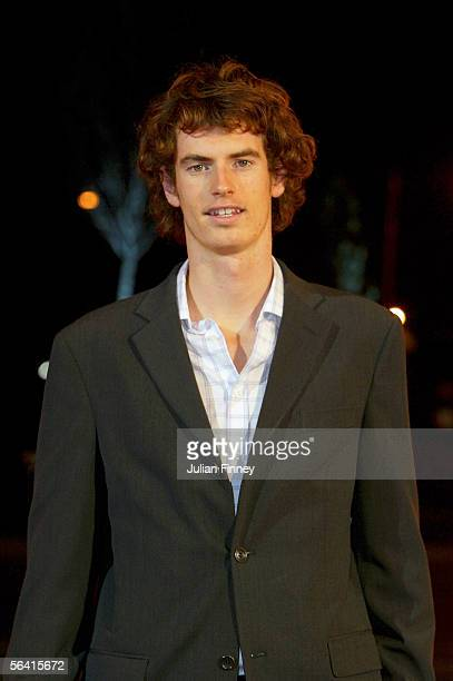 Tennis player Andy Murray arrives at the BBC Sports Personality of the Year Awards on December 11 2005 at the BBC Television Centre in London