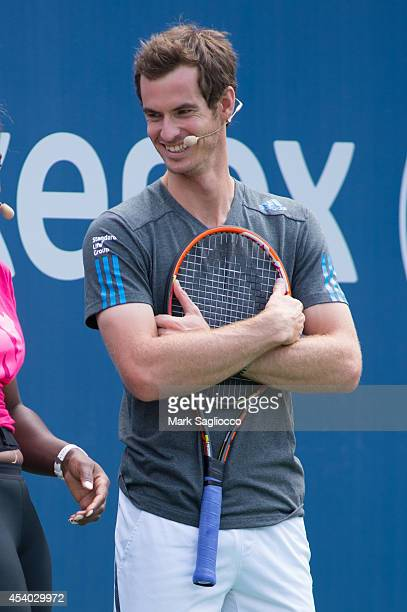 Tennis player Andy Murray attends the 2014 Arthur Ashe Kids' Day at USTA Billie Jean King National Tennis Center on August 23 2014 in New York City