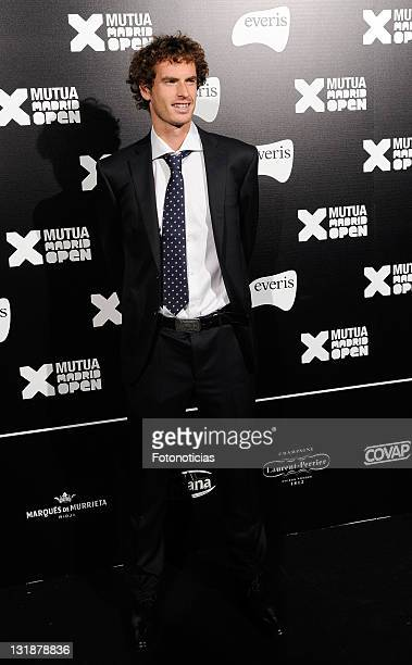 Tennis player Andy Murray attends the Mutua Madrid Open 2011 gala dinner at the Palacio de Cibeles on April 30 2011 in Madrid Spain